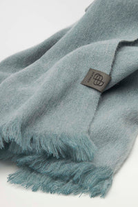 Bufandy - Alpaca scarf Brushed Solid ash blue | MILD maternity boutique - maternity clothes at Mechelen