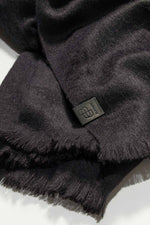 Loading Image into Gallery View, Bufandy - Alpaca Scarf Brushed Solid black | MILD maternity boutique - maternity clothes at Mechelen