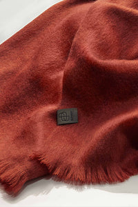 Bufandy - Alpaca scarf Brushed Solid brick   MILD maternity boutique - maternity clothes at Mechelen