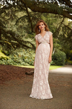 Loading Image into Gallery View, Tiffany Rose - Eden gown long blush   MILD maternity boutique - maternity clothes at Mechelen