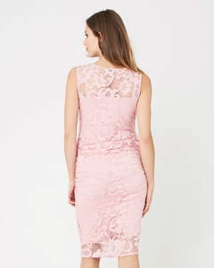 Ripe Maternity - Eden lace dress soft pink | MILD maternity boutique - maternity clothes at Mechelen