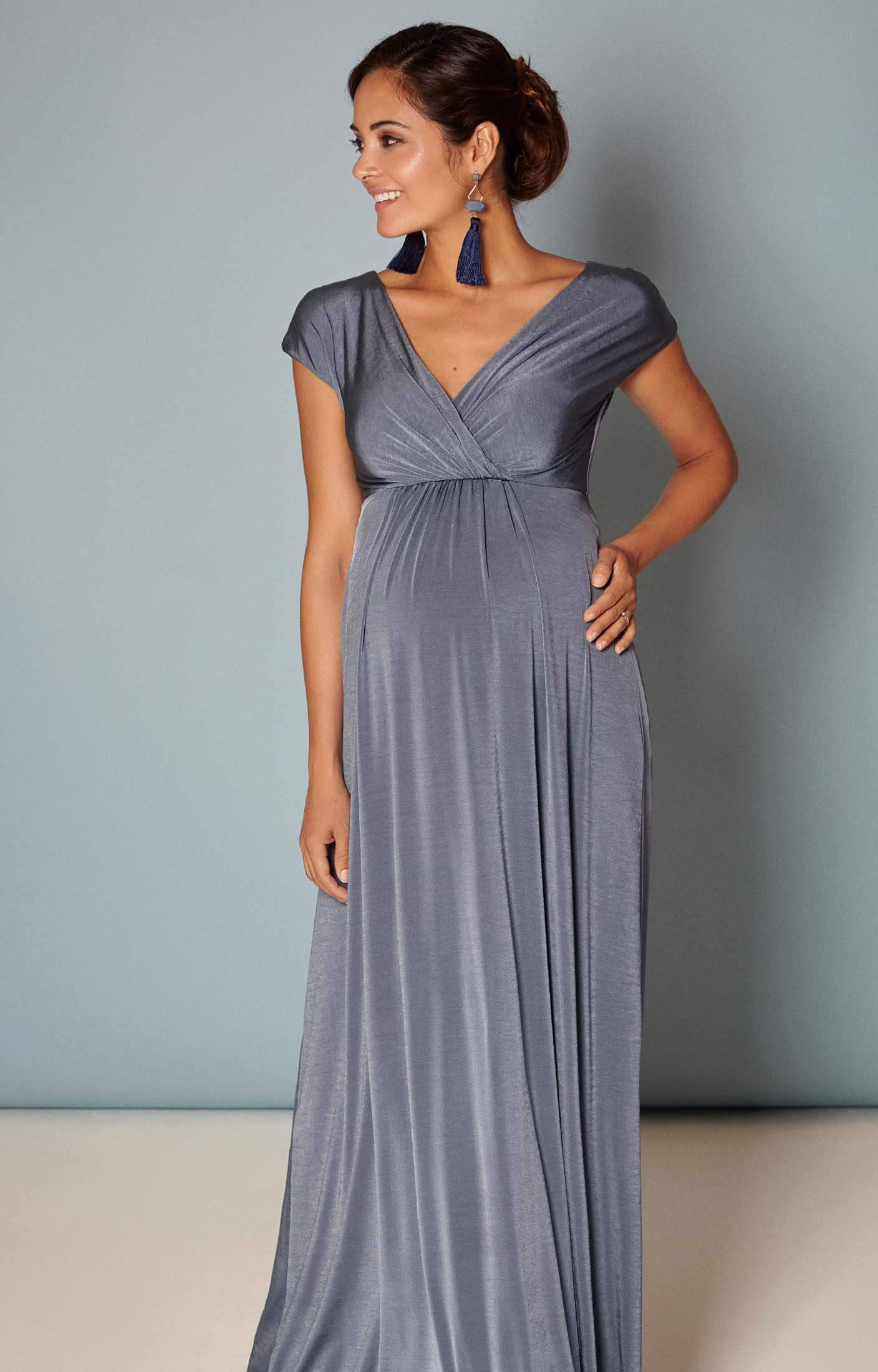 Francesca maxi dress steel blue