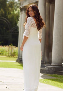 Tiffany Rose - Lucia gown ivory white | MILD maternity boutique - maternity clothes at Mechelen