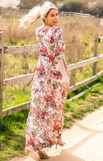 Loading Image into Gallery View, Tiffany Rose - Lucy maternity maxi dress wildflower garden | MILD maternity boutique - maternity clothes at Mechelen
