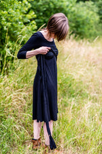 Loading Image into Gallery View, Tiffany Rose - Naomi nursing dress black | MILD maternity boutique - maternity clothes at Mechelen