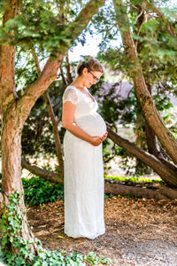 Tiffany Rose - Laura lace gown ivory | MILD maternity boutique - maternity clothes at Mechelen