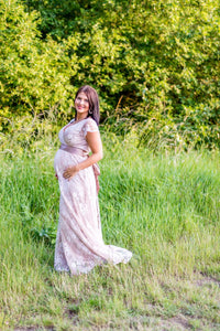 Tiffany Rose - Eden gown long blush   MILD maternity boutique - maternity clothes at Mechelen