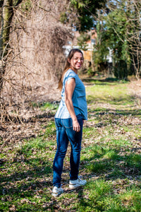 Love2wait Sophia skinny jeans stone wash (different lengths)   MILD maternity boutique - maternity clothes at Mechelen