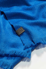 Loading Image into Gallery View, Bufandy - Alpaca Scarf Brushed Solid royal blue   MILD maternity boutique - maternity clothes at Mechelen