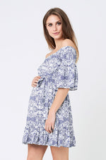 Loading Image into Gallery View, Ripe Maternity - Ella cold shoulder frill dress | MILD maternity boutique - maternity clothes at Mechelen