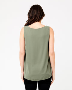 Ripe Maternity - Charlotte nursing top olive | MILD maternity boutique - maternity clothes at Mechelen