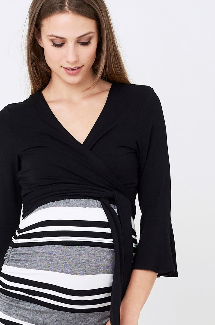 Crop ballet wrap black