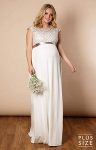 Tiffany Rose - Mia gown ivory   MILD maternity boutique - maternity clothes at Mechelen
