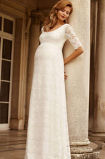 Loading Image into Gallery View, Tiffany Rose - Verona gown ivory white | MILD maternity boutique - maternity clothes at Mechelen
