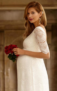 Tiffany Rose - Verona gown ivory white | MILD maternity boutique - maternity clothes at Mechelen