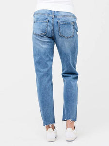 Ripe Maternity Jamie raw edge jeans vintage wash | MILD maternity boutique - maternity clothes at Mechelen