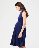 Loading Image into Gallery View, Ripe Maternity - Knife pleat dress blueprint | MILD maternity boutique - maternity clothes at Mechelen