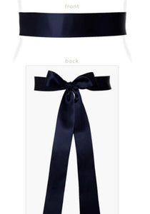 Tiffany Rose - Smooth satin sash (short) midnight blue | MILD maternity boutique - maternity clothes at Mechelen