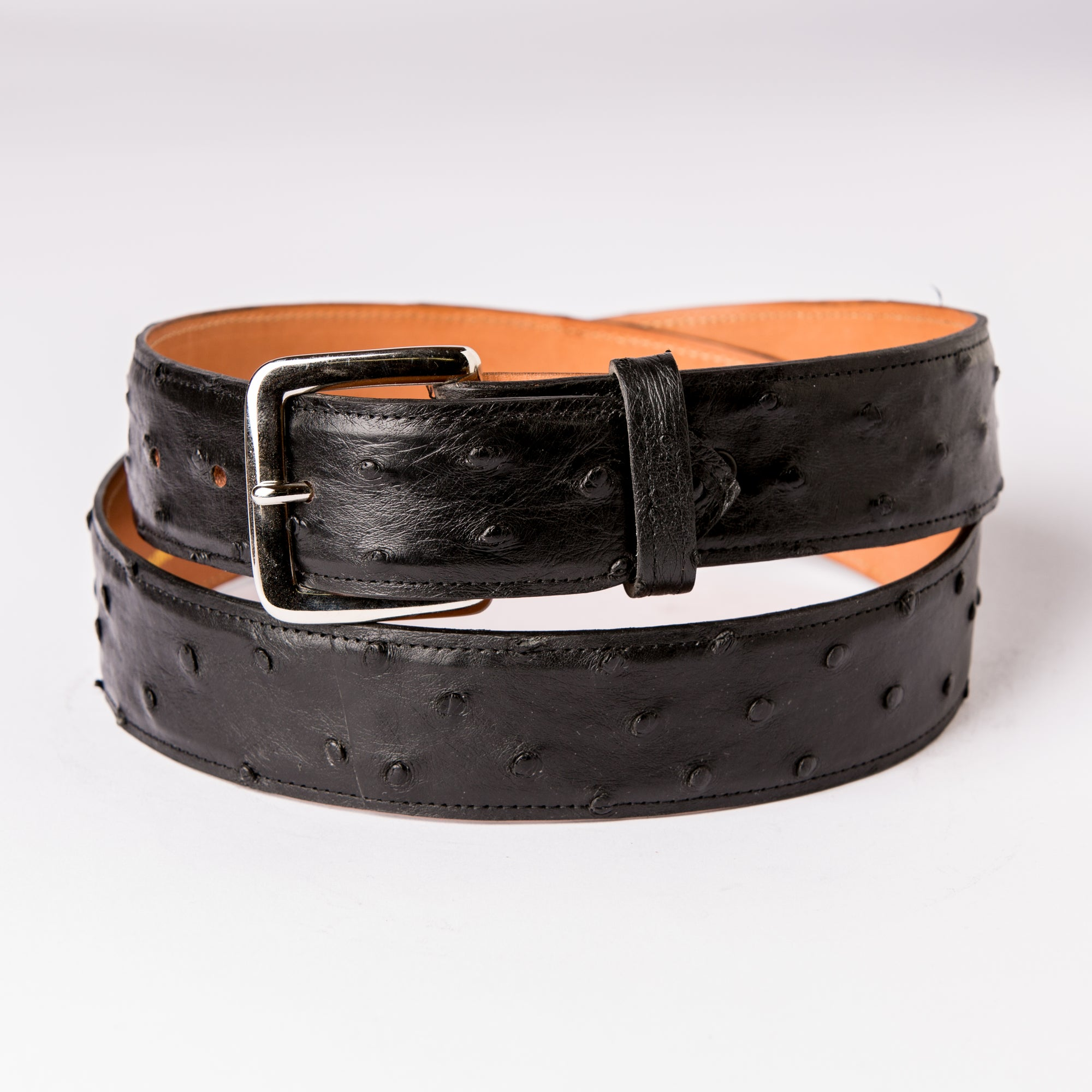 "Nogales 1.5"" Full Quill Ostrich Belt"