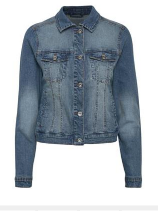 Lisa Denim Jacket by Cream Colour Denim Blue Size 40 (14)