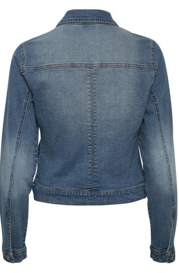 Lisa Denim Jacket by Cream Colour Denim Blue Size 42 (16)
