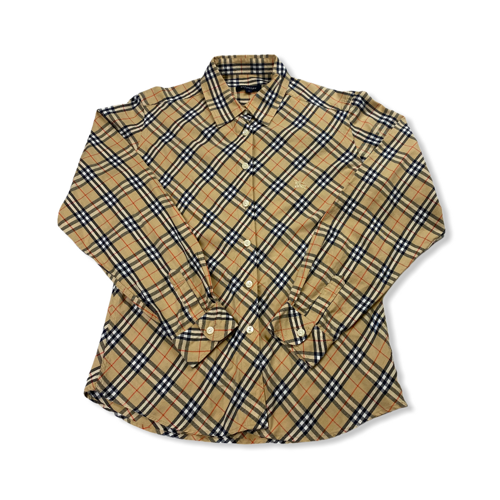 Burberry Nova Check Bluse Womens M
