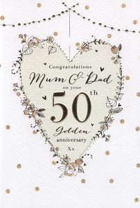 Mum & Dad 50th Anniversary