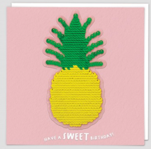 Sequin Pineapple Card