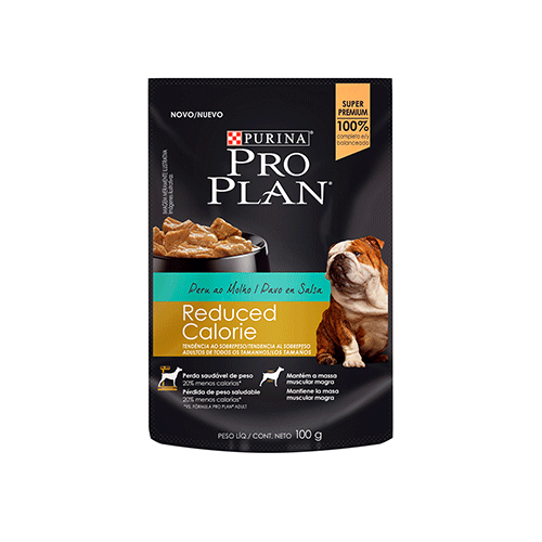 PRO PLAN POUCH REDUCED CALORIE DOG PAVO EN SALSA