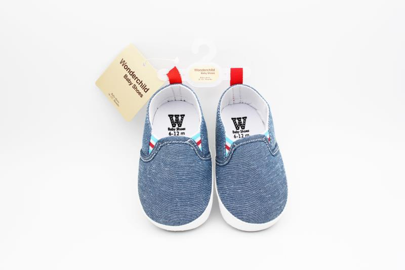 Blue and White Baby Shoes - 2