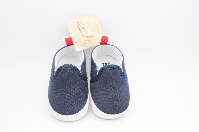 Dark Blue and White Baby Shoes - 2
