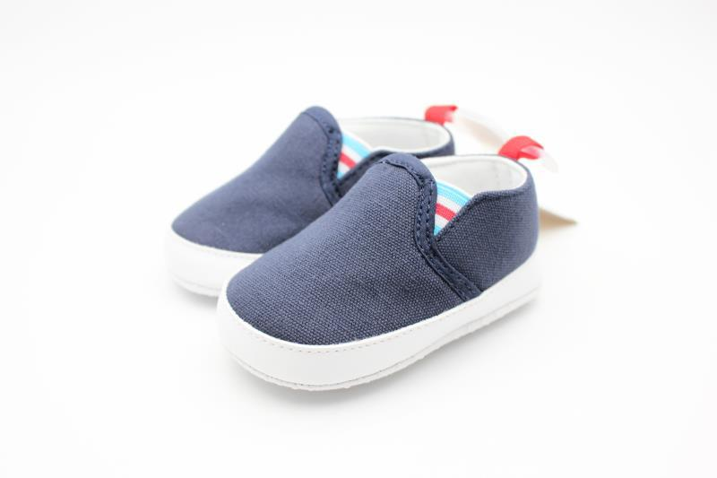 Dark Blue and White Baby Shoes - 1
