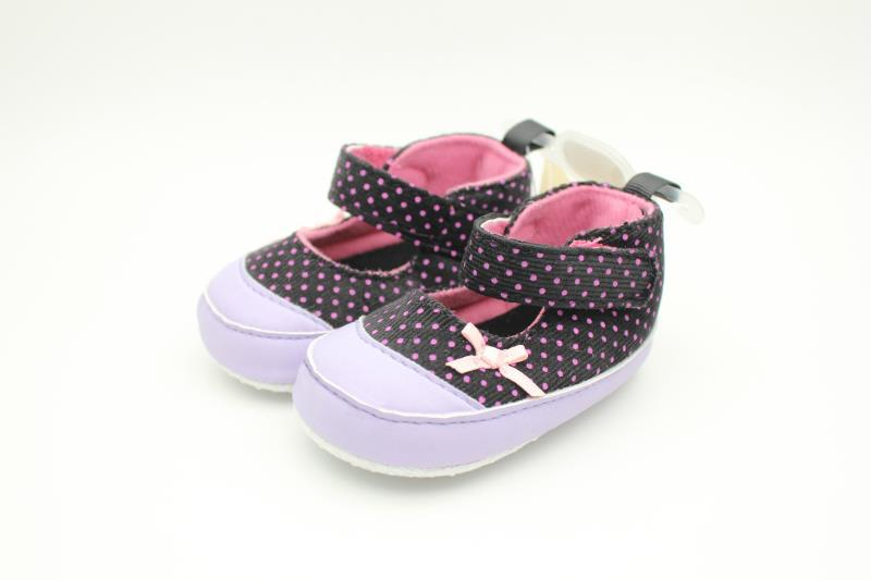 Purple and Black Baby Shoes - 2