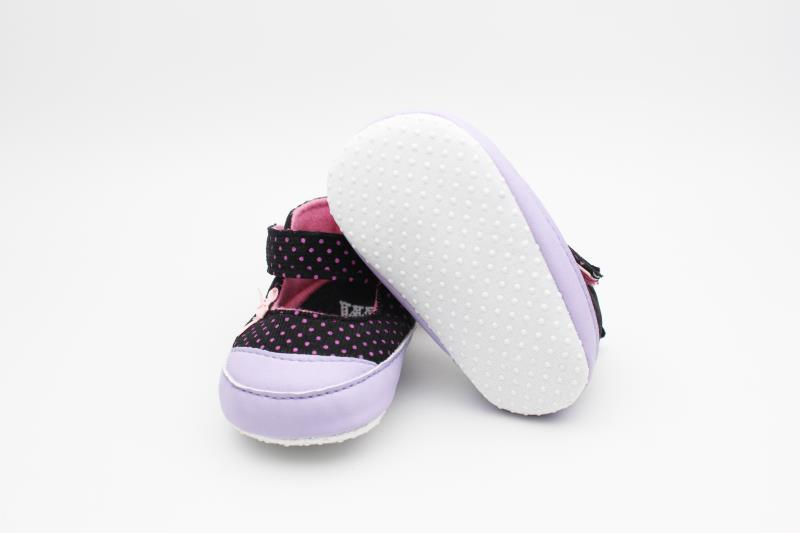 Purple and Black Baby Shoes - 1