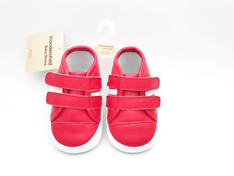 Red and White Baby Shoes - 4