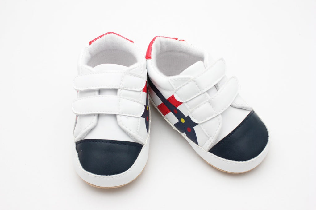 White Black Red Baby Shoes - 1