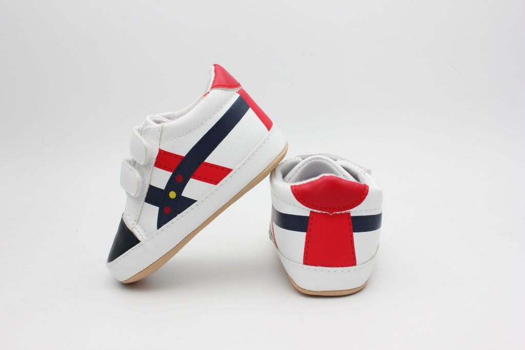 White Black Red Baby Shoes - 2