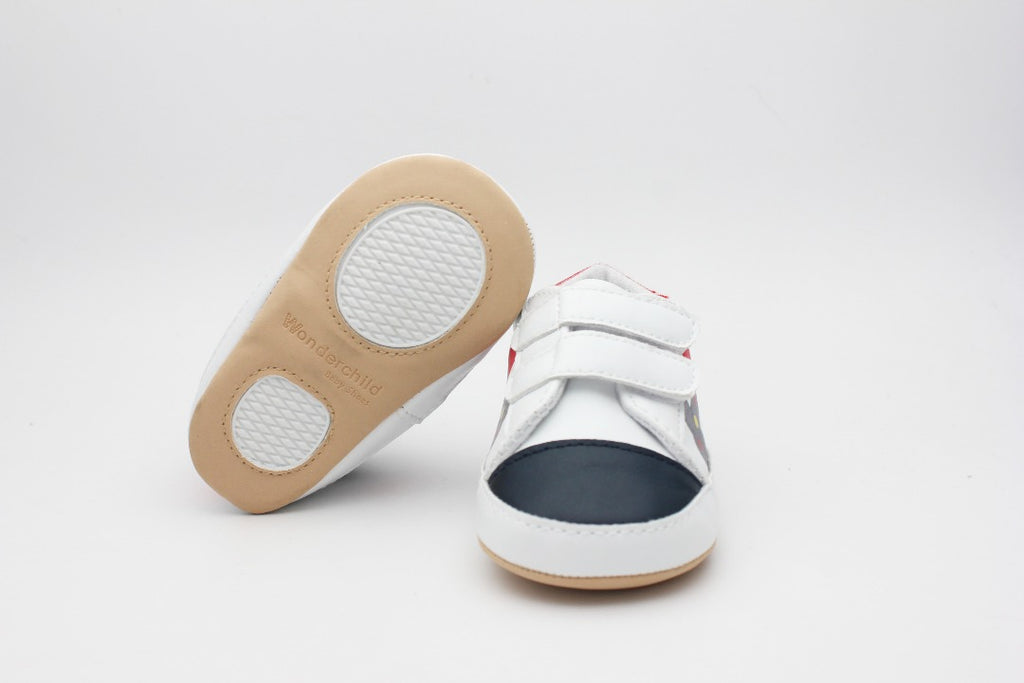 White Black Red Baby Shoes - 3