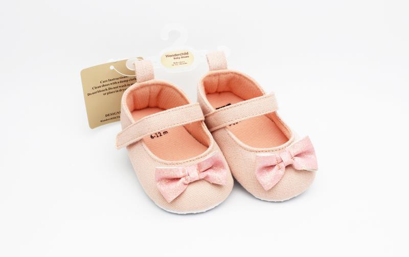 Peach Baby Shoes - 2