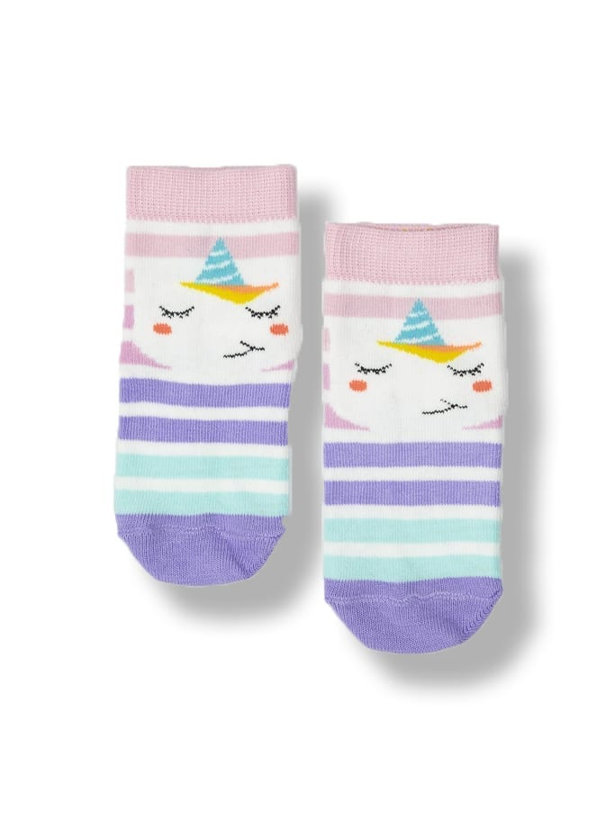 Multi color 0-6 Months Crew Socks 67A