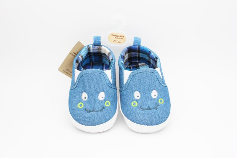 Blue and White Baby Shoes - 1