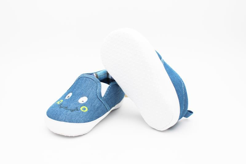 Blue and White Baby Shoes - 3