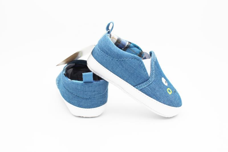 Blue and White Baby Shoes - 4