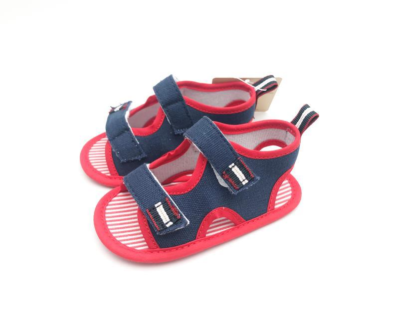 Pink and Navy Blue Baby Shoes - 3