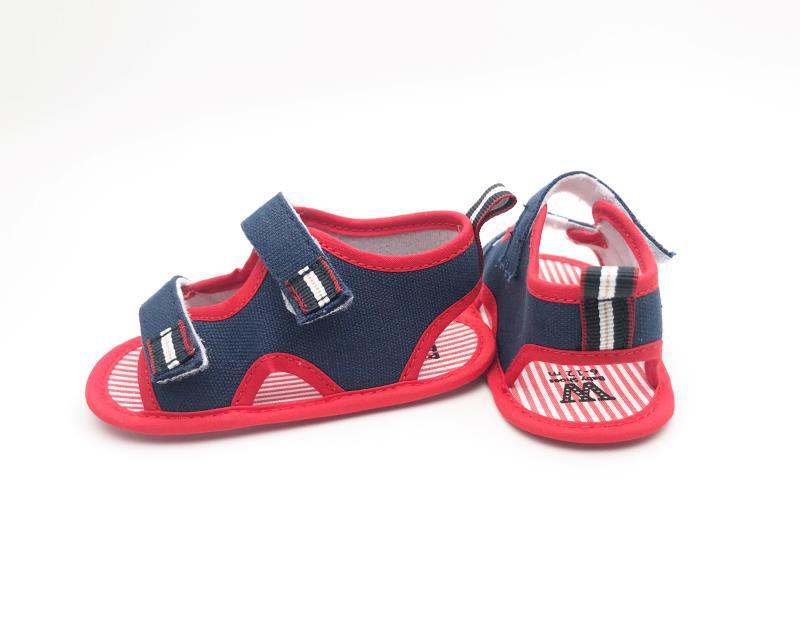 Pink and Navy Blue Baby Shoes - 1