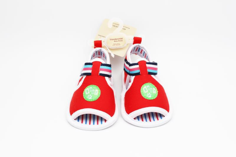 Red and White Baby Shoes - 1