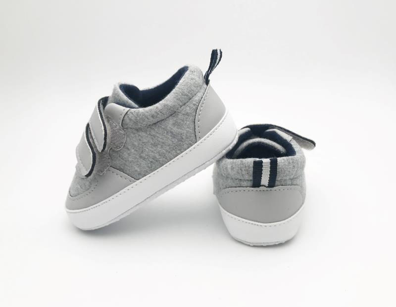 Grey and White Baby Shoes - 4