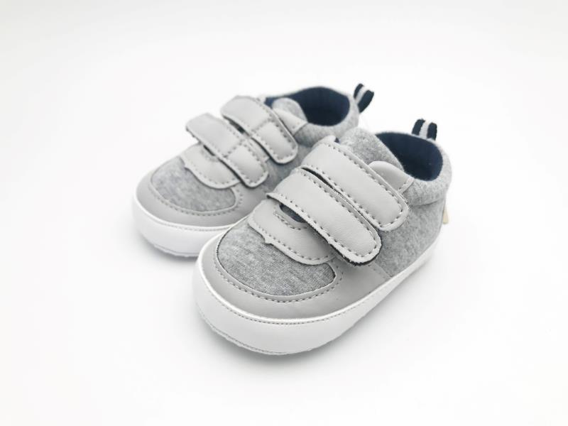 Grey and White Baby Shoes - 2