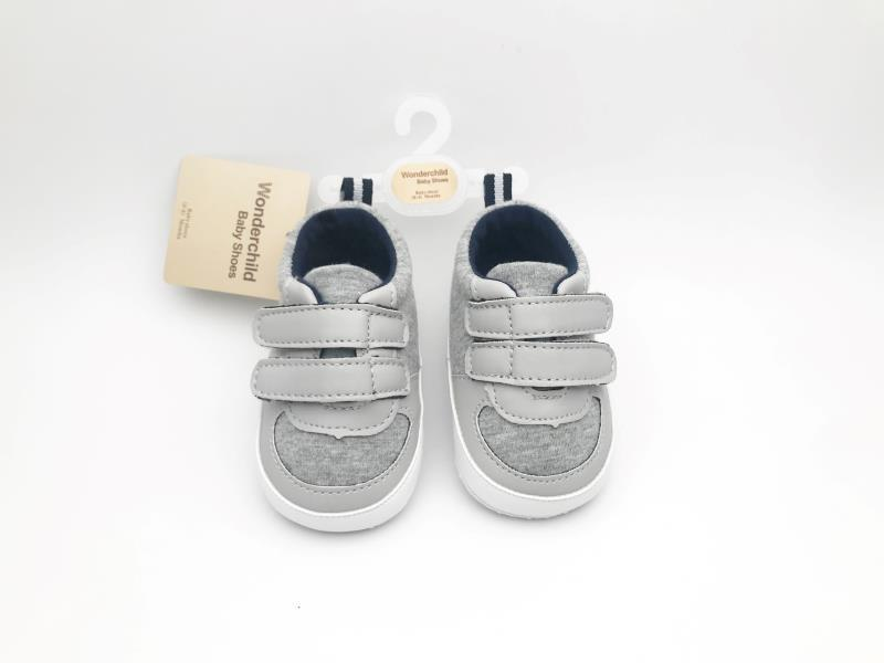 Grey and White Baby Shoes - 3