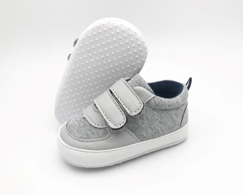 Grey and White Baby Shoes - 1